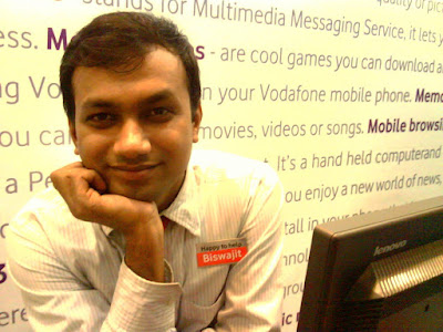 Biswajit Saw at Vodafone store
