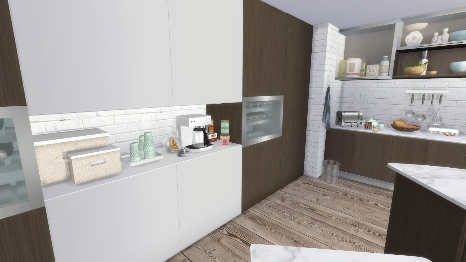 Sims 4 big family kitchen dinha for Large family kitchen