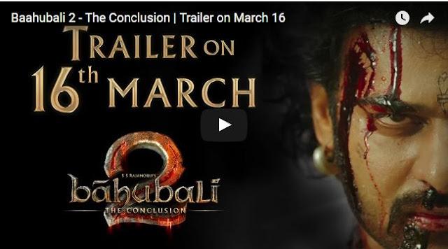 Baahubali 2 Trailer Release Date