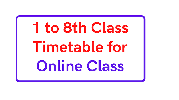 1 to 8th Live Online Class time table odisha Daily Routine for Online YouTube live classes