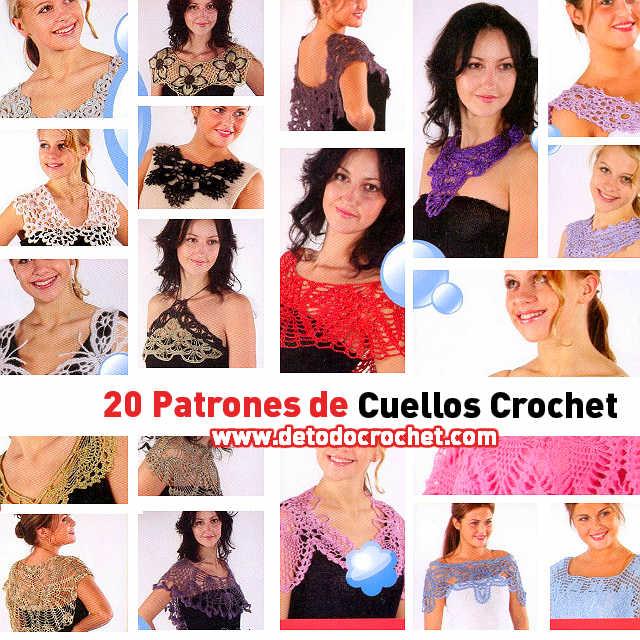 20 Patrones de Cuellos Crochet / Colección | Todo crochet