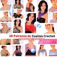 20 patrones de cuellos crochet