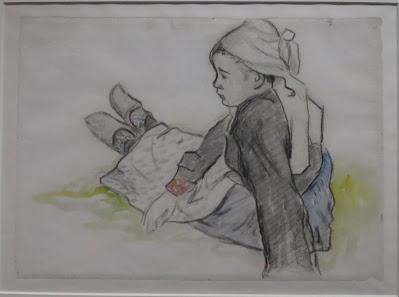 Dessin de bretonne de Paul Gauguin