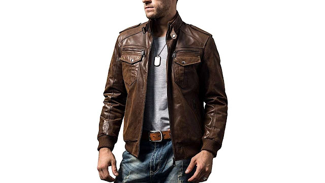 Retro Brown Biker Leather Jacket