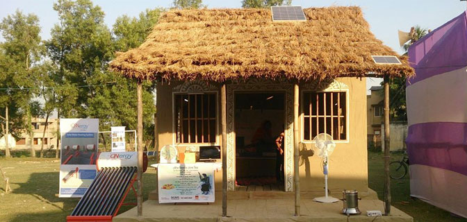 The model Solar Hut- by Switch ON-ONergy in Bagnan, West Begal