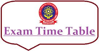IKGPTU Time Table 2020