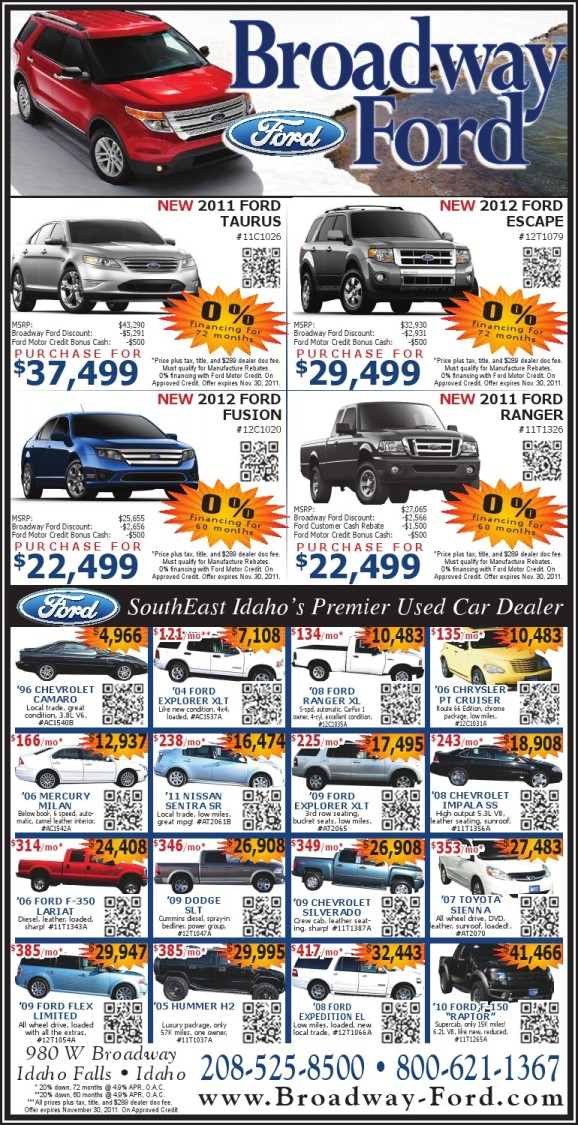 Broadway Ford Idaho Falls >> Your Broadway Ford Sales Team!!: Black Friday Sales Event!!