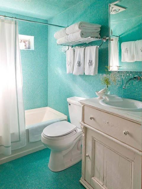 ديكور حمام عصري باللون الاخضر المميز 2020