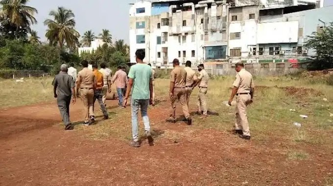 गावठी बॉम्ब ने हॉस्पिटल उडवून देण्याचा प्रयत्न , पोलिसांनी हा गावठी बॉम्ब निकामी केला.