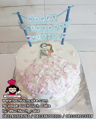 Buttercream Romantic Anniversary Cake