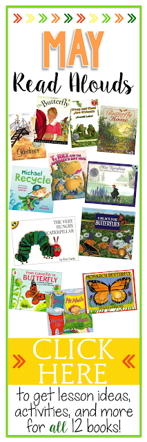 Get ready for spring with this collection of spring read alouds and spring activities!  Butteflies, Earth Day and more!
