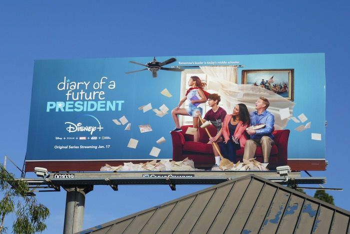 Diary of a Future President series premiere billboard