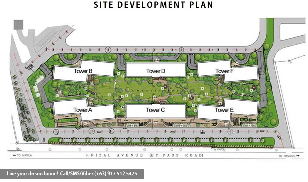 Site Development Plan | SMDC Cool Suites Residences - 1 Bedroom End Unit With Balcony | Condominium for Sale Tagaytay Cavite