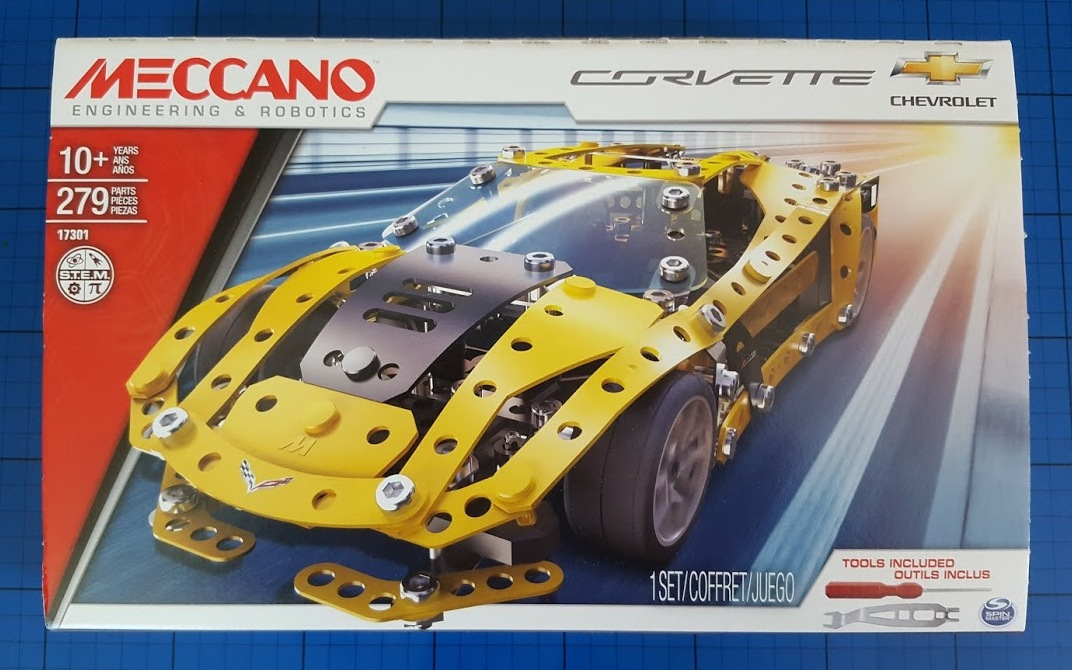 Meccano Erector Chevrolet Corvette Model Building Set STEM Education 2017 NEW