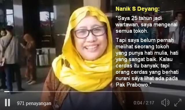 Penuturan Wartawan Senior Nanik S Deyang Tentang Sosok Prabowo Subianto