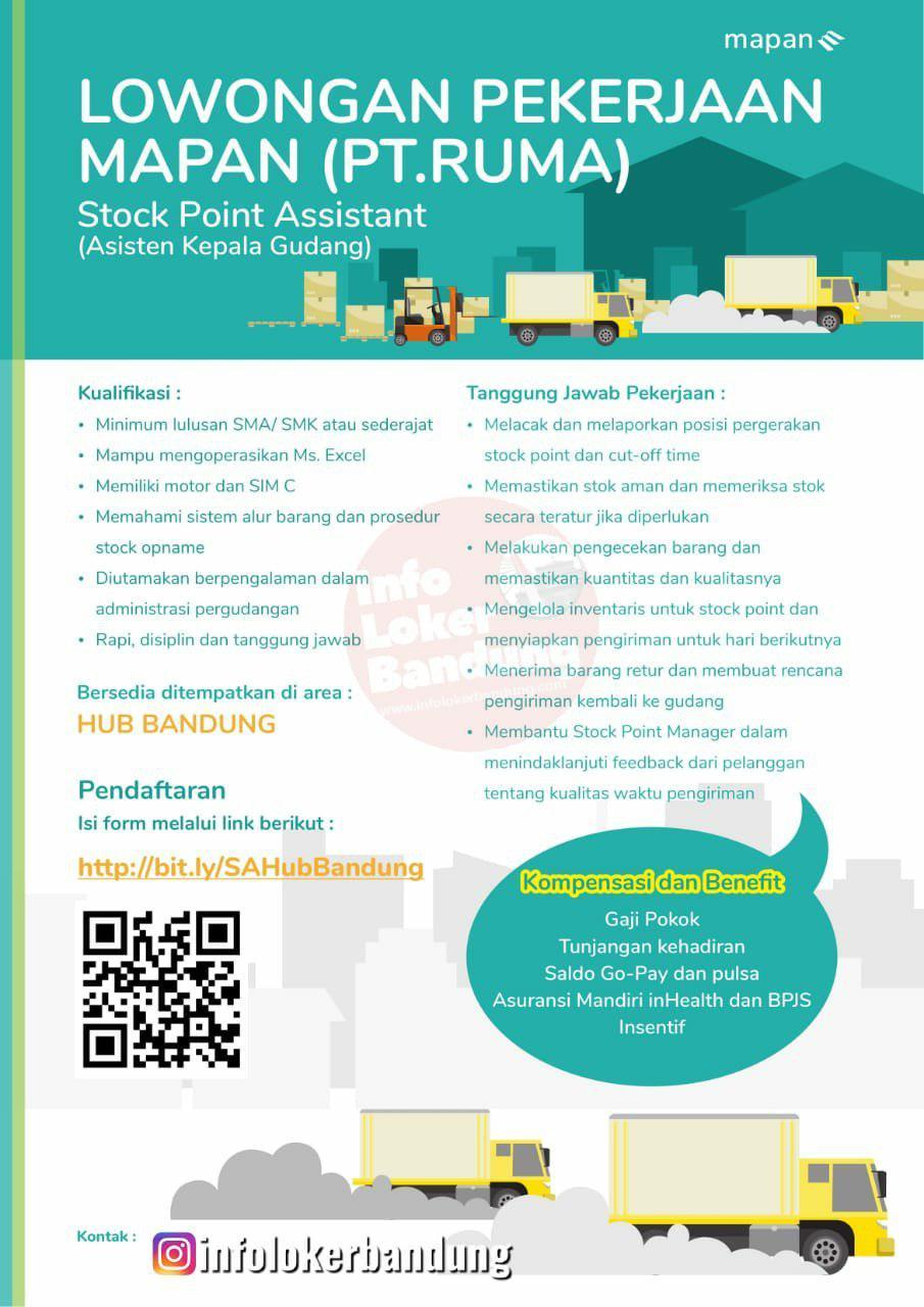 Lowongan Kerja Asisten Kepala Gudang Hub PT. Ruma ( Go-Jek Group) Bandung Juni 2019