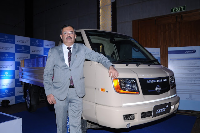 Mr. Nitin Seth, President - Light Commercial Vehicles, Ashok Leyland at the launch of DOST+ in Banggalore on Wednesday