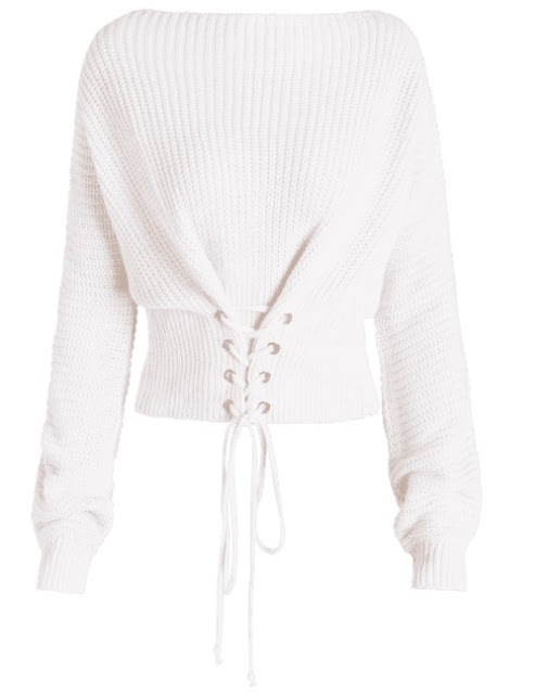 Zaful White Cozy Fall Sweaters