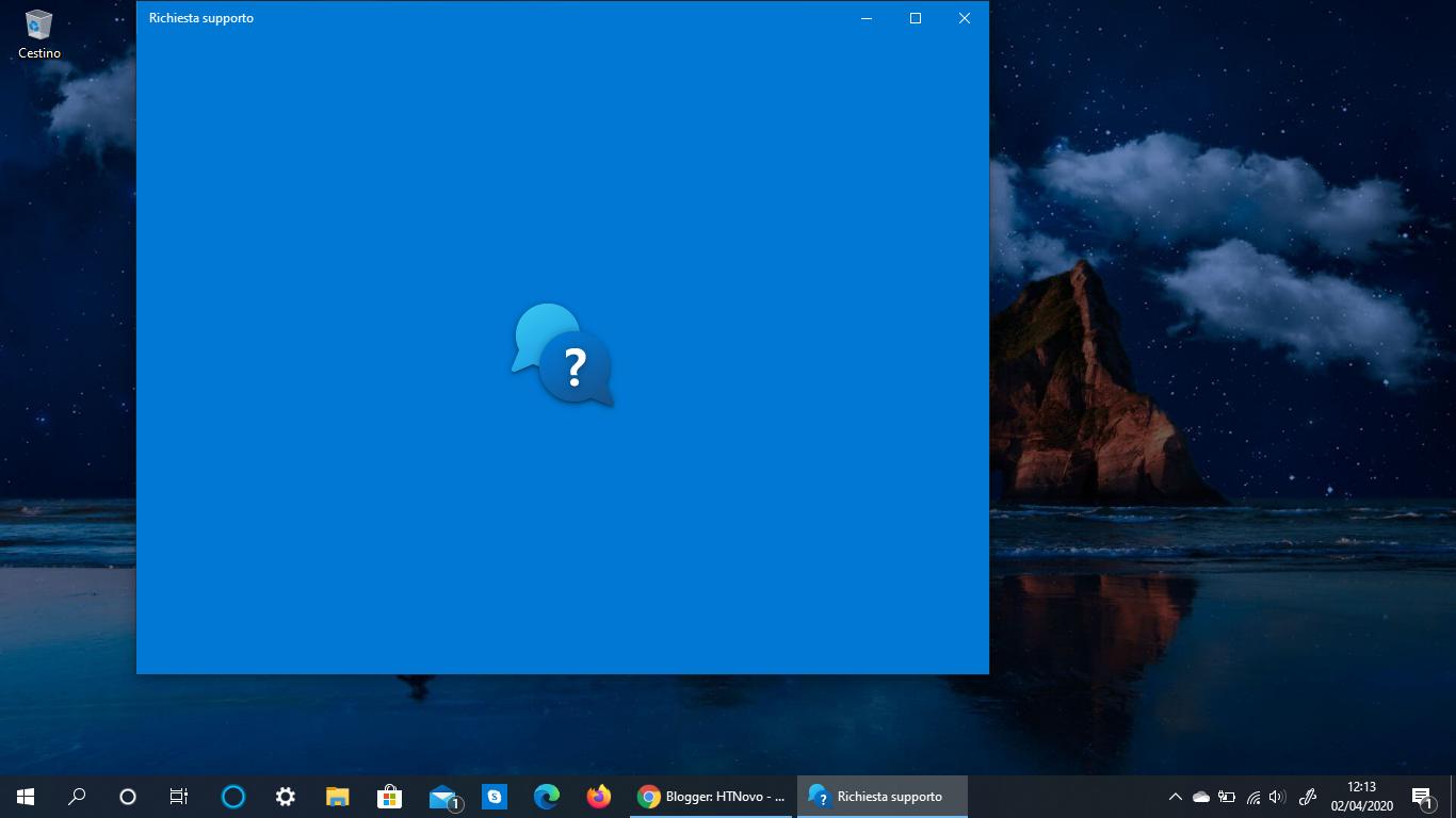 Anche l'app Richiesta di supporto ottiene la nuova icona in Windows 10 stabile