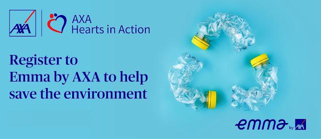 AXA invites customers to join plastic reduction drive via Emma by AXA