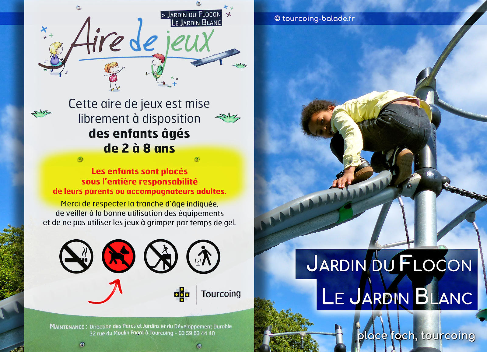 Parc Place Foch, Tourcoing - Admission chiens.