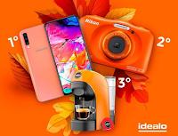 Logo #AutunnoIdealo: fotografa e vinci fotocamera, macchina da caffè e smartphone