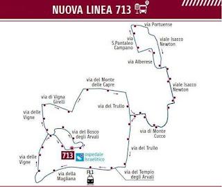 percorso linea 713