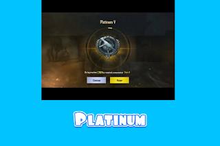 Gambar platinum PUBG mobile