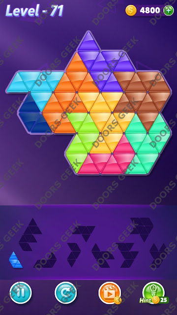 Block! Triangle Puzzle Proficient Level 71 Solution, Cheats, Walkthrough for Android, iPhone, iPad and iPod