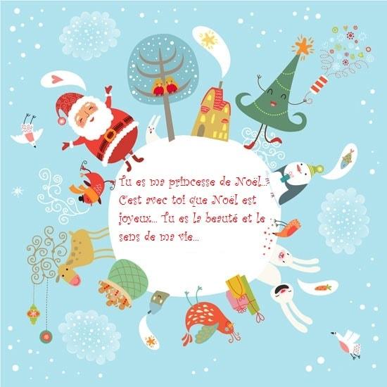 Tu es ma princesse de Noël... C'est avec toi que Noël est joyeux... Tu es la beauté et le sens de ma vie...