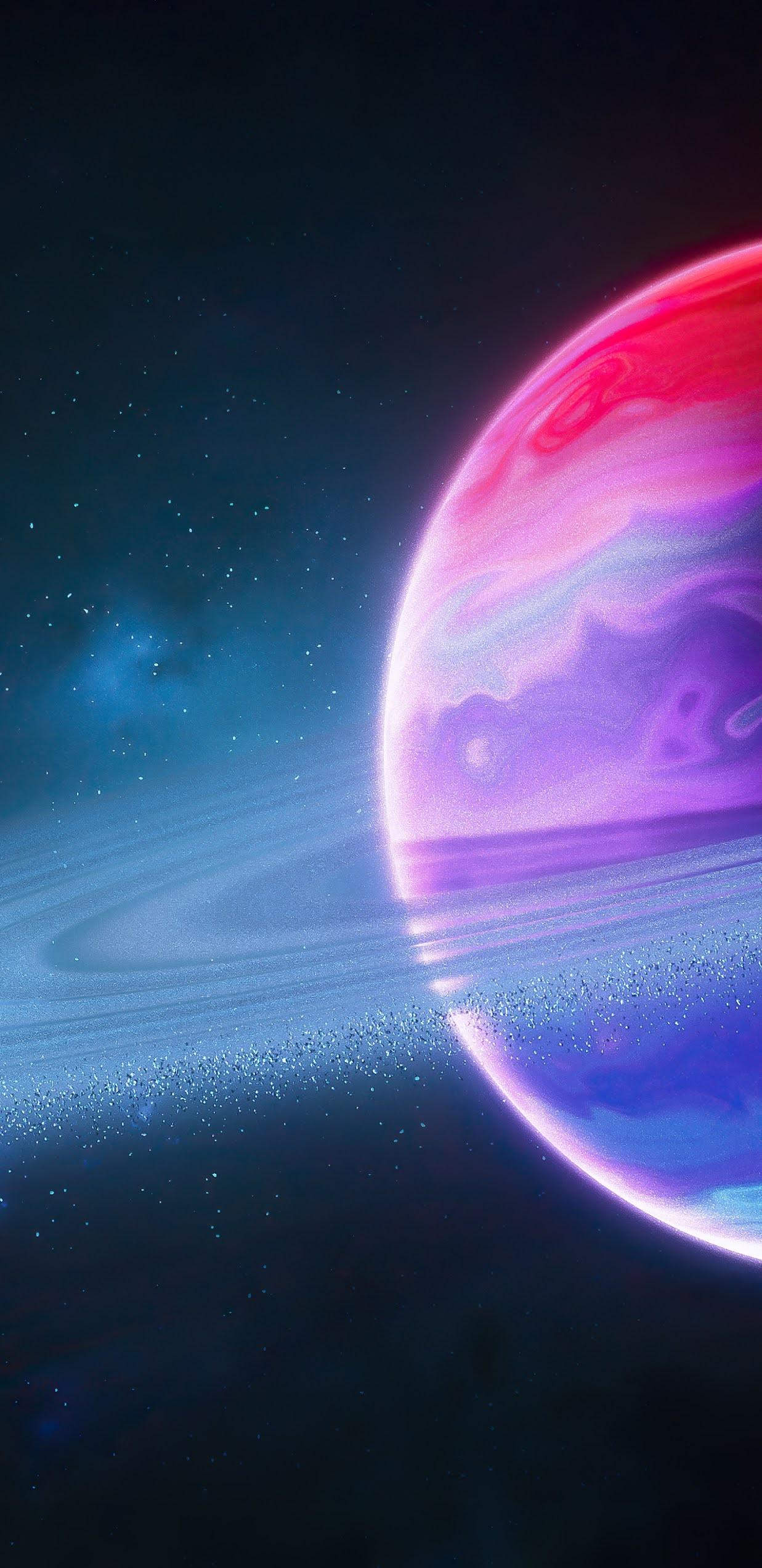 Planetary Ring mobile wallpaper