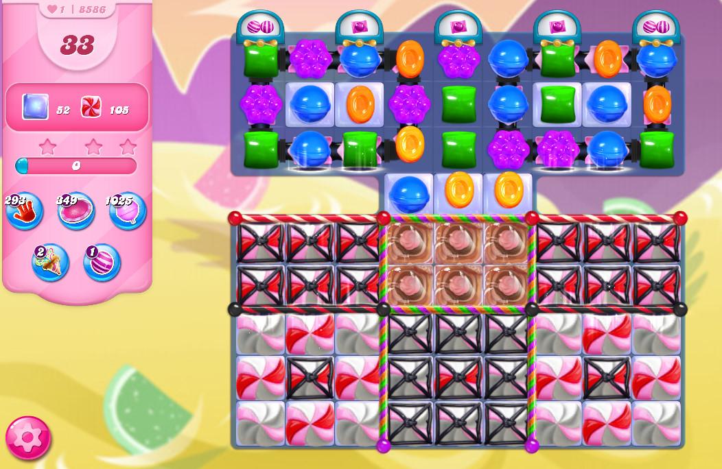 Candy Crush Saga level 8586