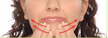 Transverse massage stroke for the masseter muscle