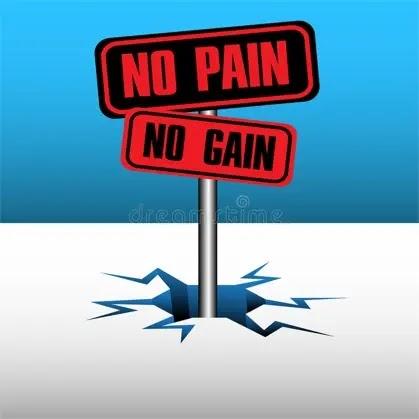 No gain, no pain