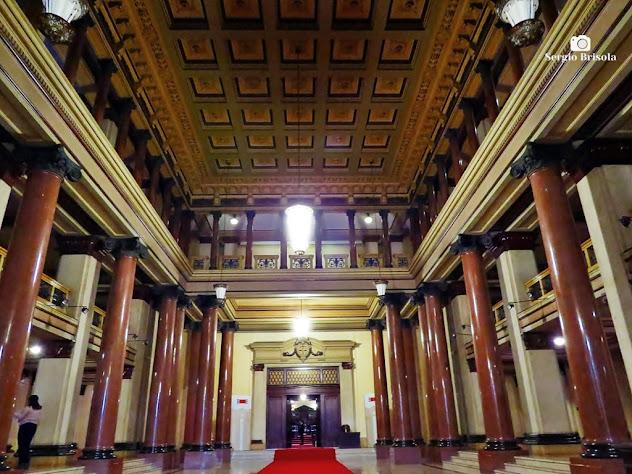 Vista ampla do Salão principal do Palácio da Justiça de São Paulo - Sé