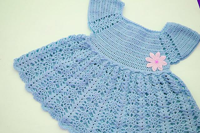 6 - Crochet Imagen Vestido con canesú morado a crochet muy fácil y sencillo por Majovel Crochet