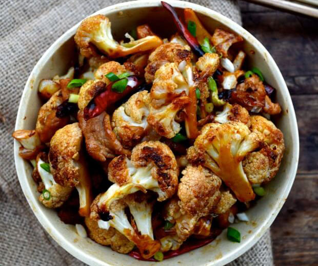 Easy Roasted Cauliflower Stir-Fry | Chinese Recipes