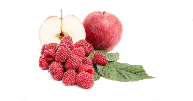 Batido saciante de manzana y franbuesas