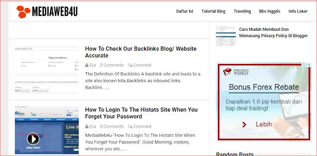 """MediaWeb4U-Selamat malam para pengunjung dimana saja anda berada semoga tak ada yang berkurang segala sesuatunya dan semoga dalam keadaan sehat wal-afiat saja, Amin. Pada postingan terdahulu saya sudah berbagi tentang """"How To Install The Anti-Copy paste On The Blog Easily?'', """"How To Check Our Backlinks Blog/ Website Accurate'' dan """"How To Login To The Histats Site When You Forget Your Password'', iah artikelnya berbahasa inggris karena ingin mendapatkan trafik bule, hehe. mungkin struktur katanya banyak yang salah, karena saya sendiri kurang begitu faham bhs. inggris, wkwkwk. Oleh karena nya mohon koreksinya gan.     Dan pada kesempatan malam ini saya ingin shering tentang """"Istilah-Istilah Dalam Dunia  Persilatan, eh Blogging Lengkap (Kamus Blogger)"""", berawal dari sebuah grup blogger di telegram, saya japri one by one, dengan kata seperti ini, Gan, Bw yuk? kalau yang sudah lama ngeblog pasti paham, ada yang jawab yuk, okeh, gak dulu gan, dst. dan jika newbie, jawabnya apa itu bw? bw apaan gan? dst...    dan dibawah ini SS nya..        Oleh karena itu saya ingin shering tentang istilah-istilah dalam ngeblog, saya bukannya mastah atau suhu, bukan juga newbie hehe....hanya saja ingin berbagi.    Baiklah ini dia daftar istilah nya dalam dunia per blogan....    Artikel = adalah suatu karya tulis dengan panjang tertentu yang berisi gagasan atau fakta yang dapat membujuk, meyakinkan, mendidik, dan menghibur pembacanya, serta dipublikasikan ke suatu media (buletin, majalah, koran, website, media sosial, dan lainnya). maxmanroe                                            Blog = Singkatan dari website log (web blog). Istilah """"blog"""" sudah diserap kedalam bahasa Indonesia dengan arti """"catatan harian atau jurnal pribadi di internet yang dapat diakses oleh siapa saja"""" (KBBI).        Blogger = Orang yang melakukan aktivitas ngeblog, menulis artikel, mengedit html, memasang widget, dst.     Blogging = atau akrab disebut ngeblog. Blogging merupakan kegiatan membuat, mendesain, menul"""