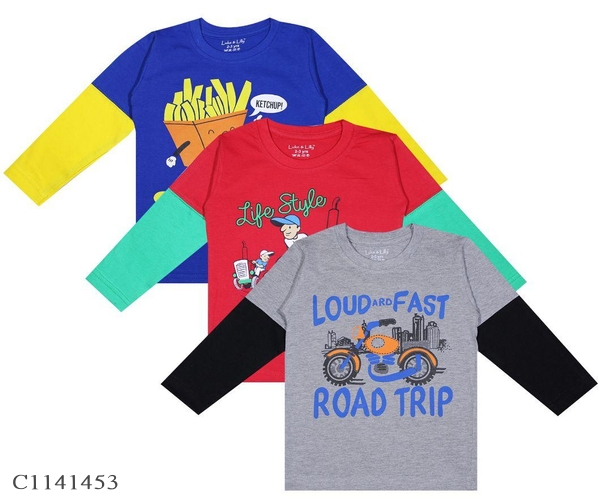 2 To 8 Years Old Boys Printed T-Shirts Buy 2 Get 1 Free Online Shopping   Combo T-shirt For Boys Online Shopping   Kids Clothing Online  