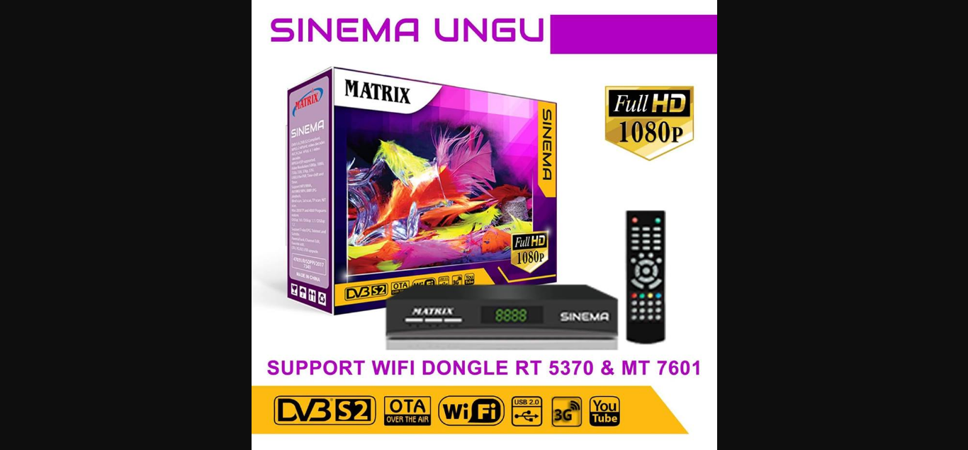 Receiver Matrix Sinema Ungu