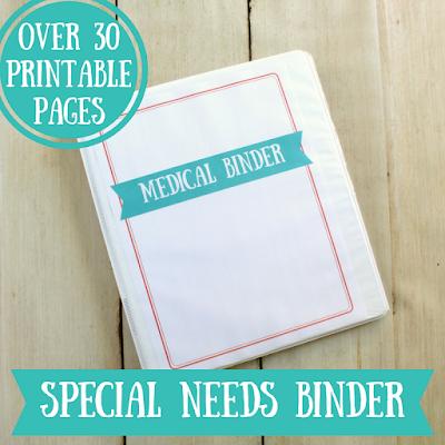 Special Needs Medical Binder Printables