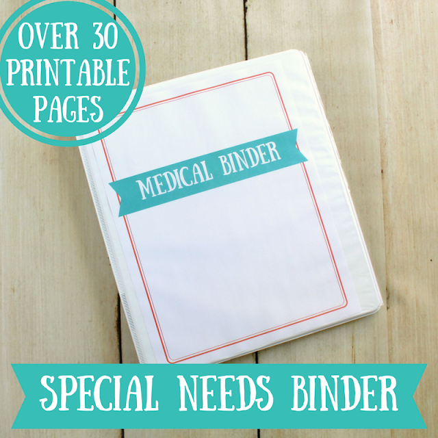 Special Needs Medical Binder printable