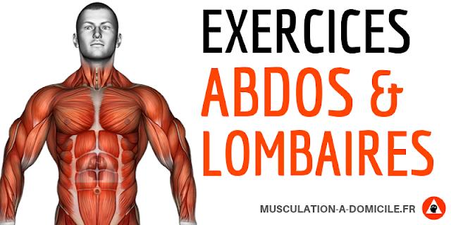 musculation à domicle exercices fitness abdos et lombaires poids de corps sans matériel