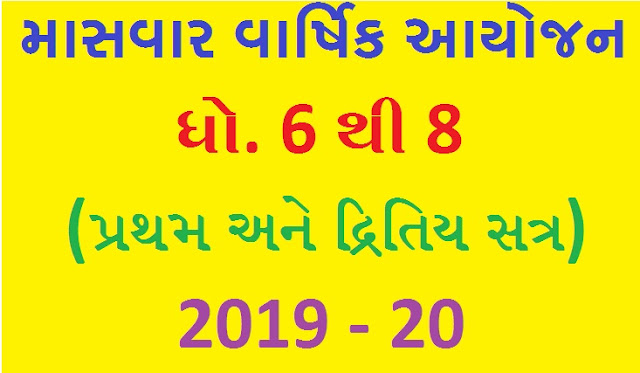 Masvar Varshik Ayojan std 6 to 8 year 2019/20