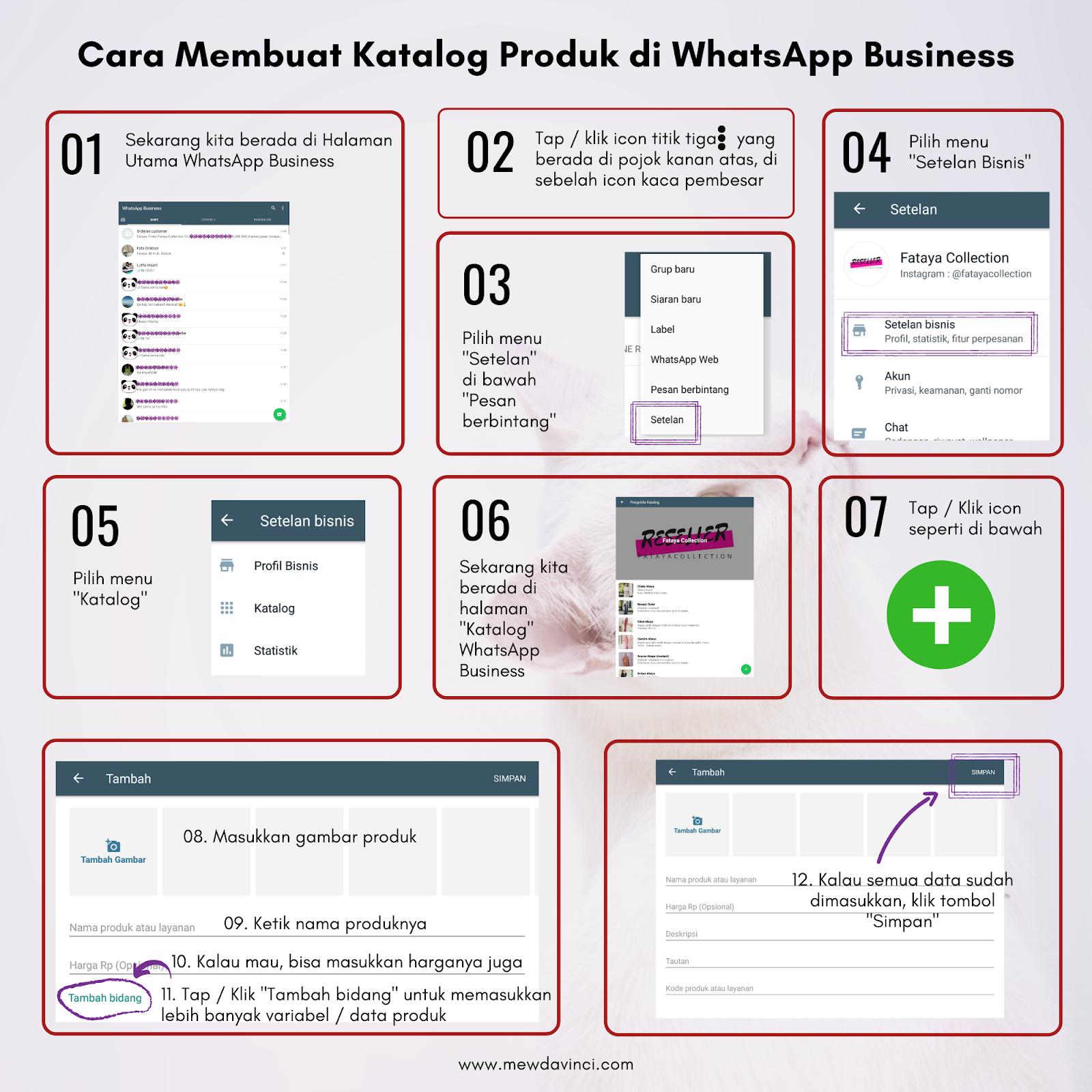 Cara membuat katalog produk di WhatsApp Business