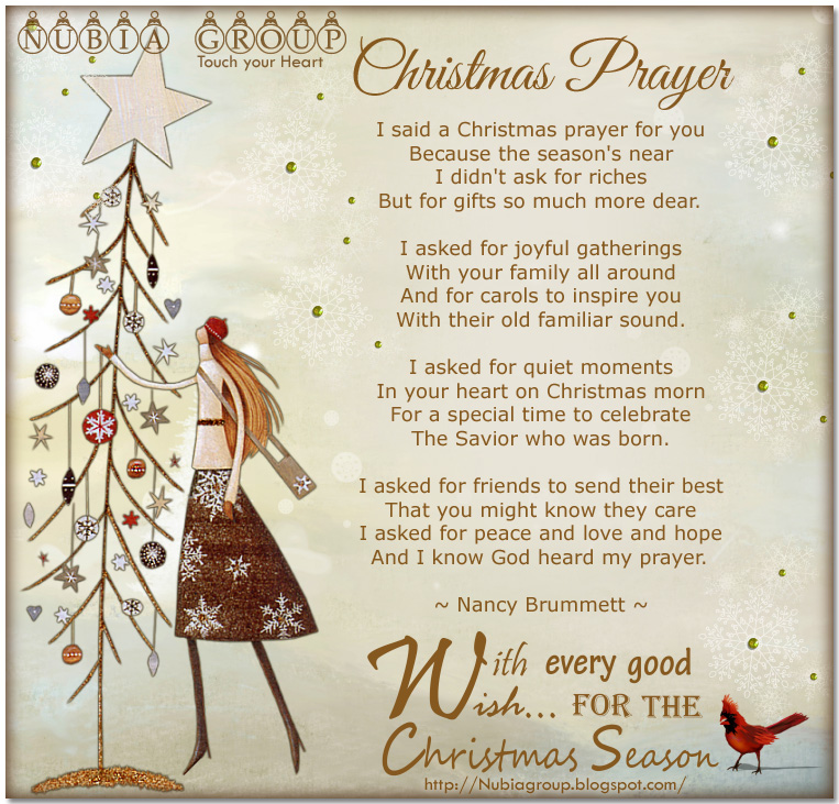* Nubia_group Inspiration *: Christmas Prayer