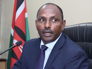 Treasury CS Ukur Yattani photos talking about Kenya Development Bank