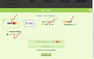 طريقة الدفع المتاحة في هذا الموقع