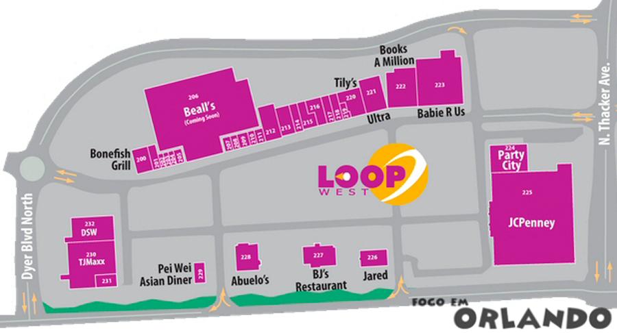 Mapa Loop West Kissimmee